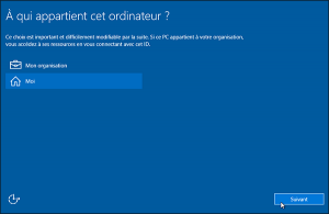Installer Windows 10 8ème étape