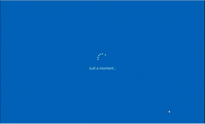 Installer Windows 10 Just a moment