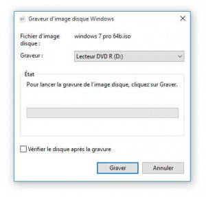 Graveur d'image disque Windows